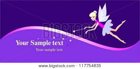 fairy post card vector