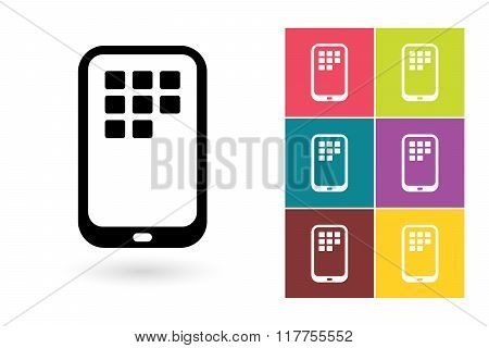 Smartphone vector icon or mobile symbol