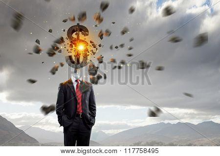 Businessman financier outdoor