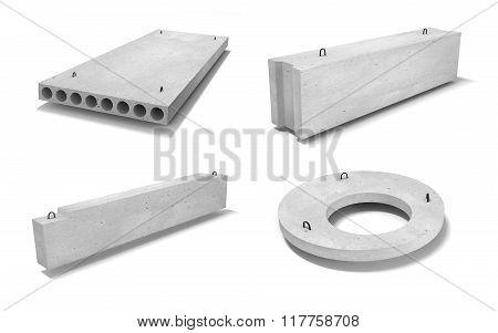 Ferroconcrete items 3D