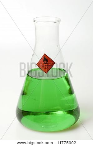 Beaker Filled with Green Liquid