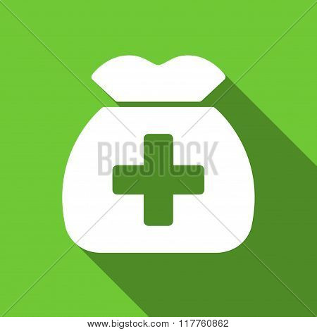 Medical Capital Flat Long Shadow Square Icon