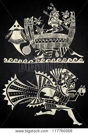 Mexico and Peru native art