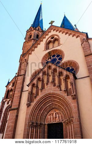 St. Mary church in Gelnhausen, founded by Emperor Frederick Barbarossa in 1170, Germany