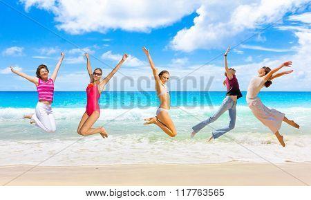 Having Fun On a Beach