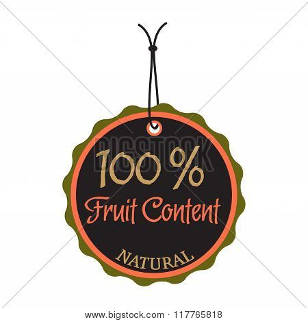 Fruit content tag