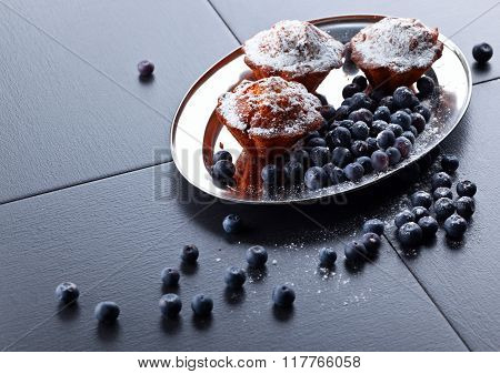 Cupcake With Blueberry