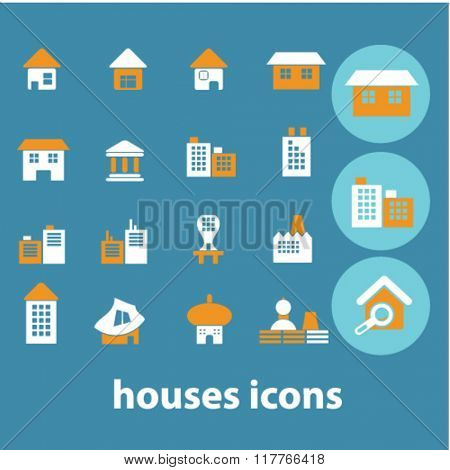 House icon,house logo, home concept, buildings signs, house vector, houses set