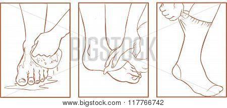 Vector Illustration Of A Medical Foot Care