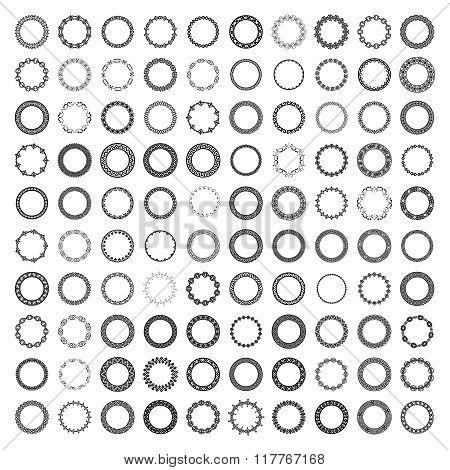 Mega set of 100 the most popular round frames.