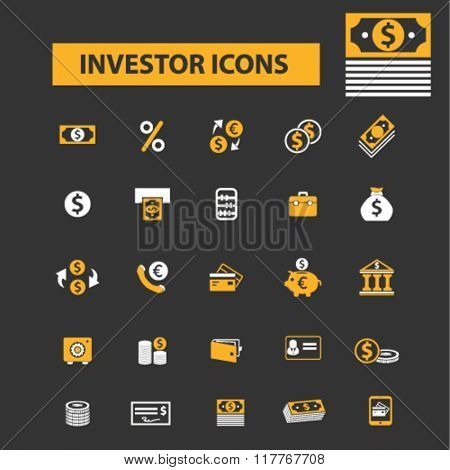 investor icons, investment icons, investor concept