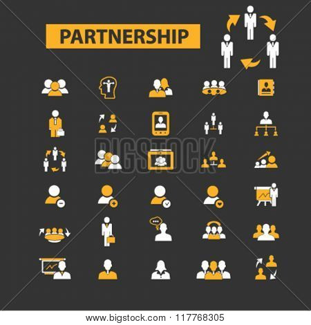 partnership icon, partnership business, partner, team, management, community, partnership concept