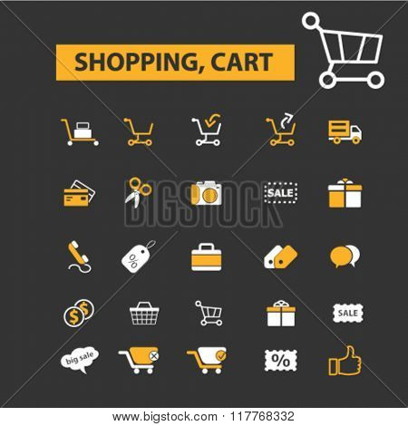 retail, supermarket, sales, shopping icons