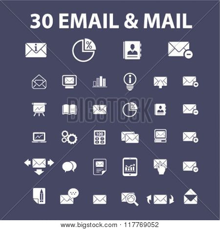 email, message, mail icons
