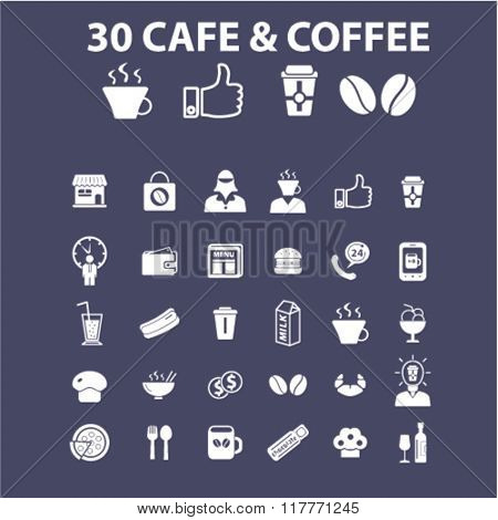 coffee shop, cafe icons