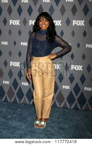 LOS ANGELES - JAN 15:  Keke Palmer at the FOX Winter TCA 2016 All-Star Party at the Langham Huntington Hotel on January 15, 2016 in Pasadena, CA