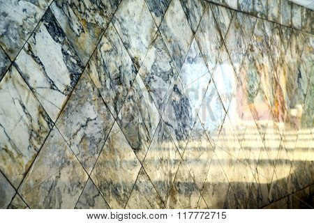 Abstract  Reflex In      Asia   Stone Step     The    Temple