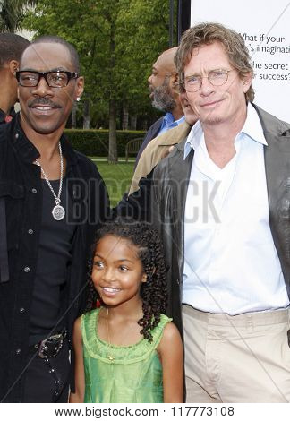 Eddie Murphy, Yara Shahidi and Thomas Haden Church at the Los Angeles Premiere of