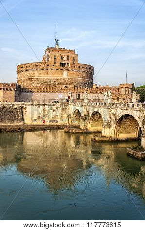 Rome Castel Sant Angelo By The Tiber