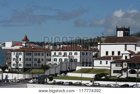 White buildings in Azores