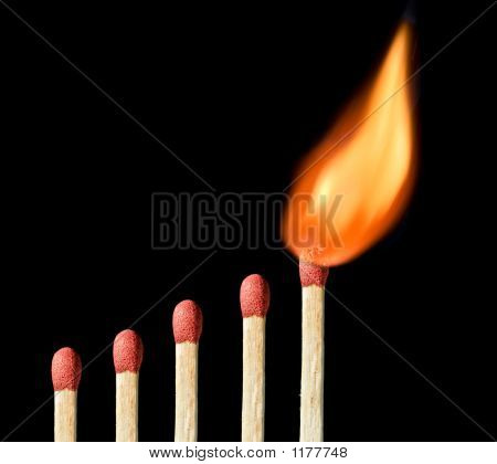 One Matchstick On Fire