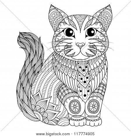 Cat Zentangle