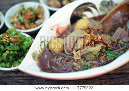 Boat Noodles Or Kuai Tiao Ruea Is A Thai Style Noodle