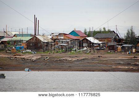 Town At Kolyma River Coast