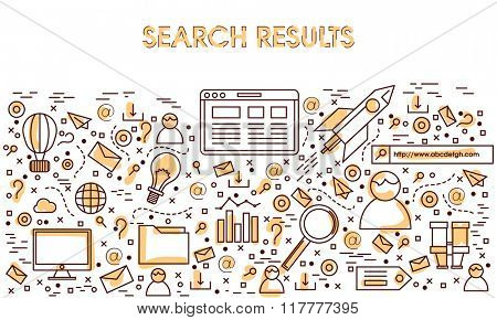 Creative Infographic elements set for Search Results concept.