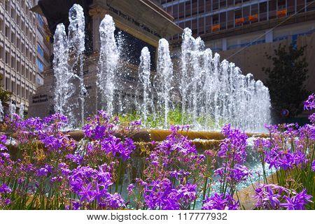 Fountain In Granada.