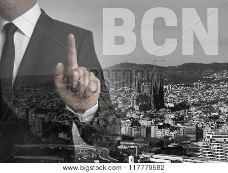 Bcn Skyline Panorama Concept Background