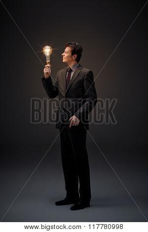Illumination Of Business Man