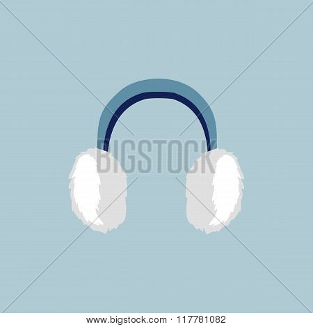 Flat Earmuffs Icon