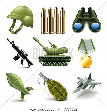 Army Icons Vector Set