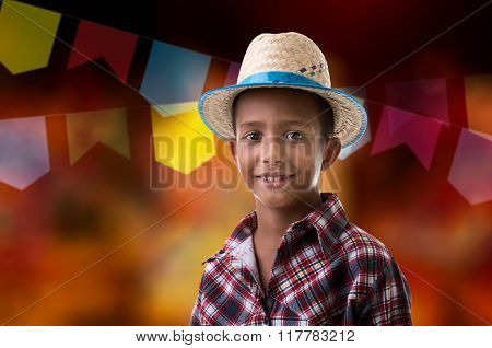 Boy wearing