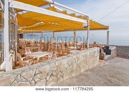 Empty Winter Beach Ibiza