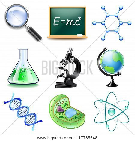 Science Icons Vector Set