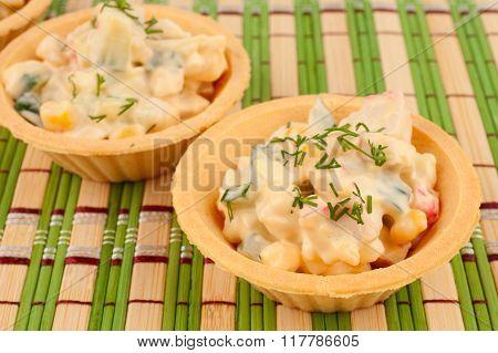 Tartlets With Crab Salad