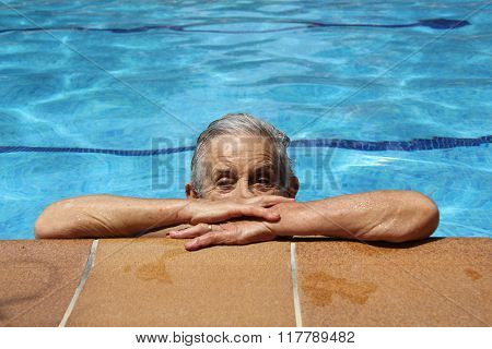 Senior woman in the swimming pool