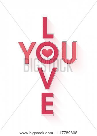 Elegant greeting card design with stylish text I Love You for Happy Valentine's Day celebration.