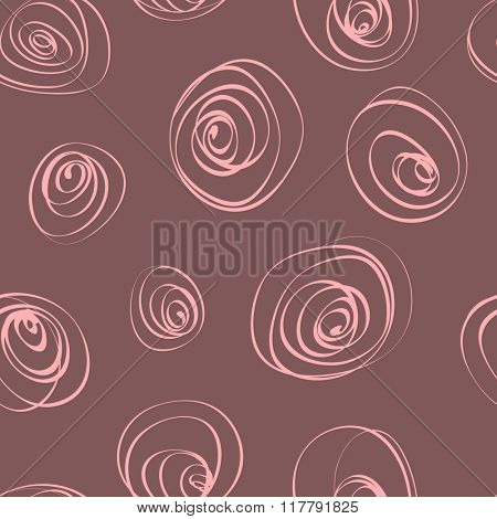 Stylized vector background with roses. Hand drawn.