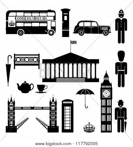 Vector London City street icon set