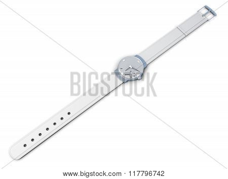 Women's wrist watch isolated on a white background. 3d rendering