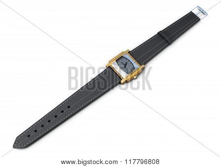 Wrist watch isolated on a white background. 3d rendering