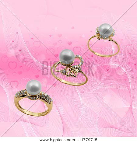 Elegant Female Jewelry With Pearl