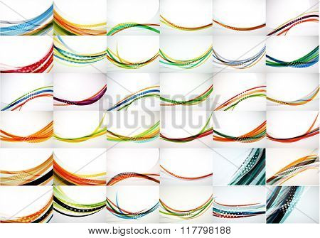 Universal huge mega set of abstract backgrounds, waves, lines and motion flowing concepts