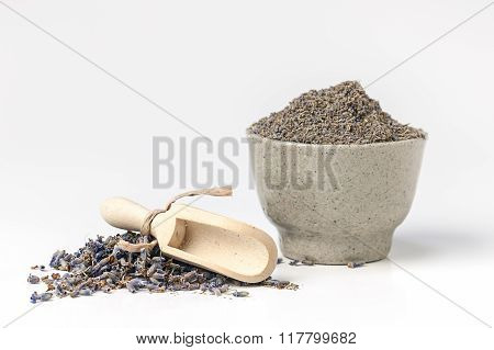 Dried And Powdered Lavender.