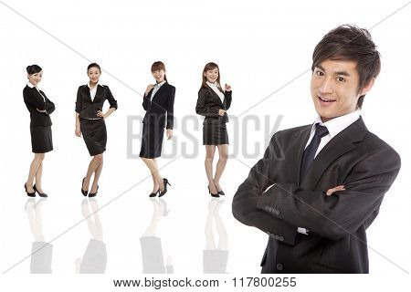Portrait of professional and confident business team