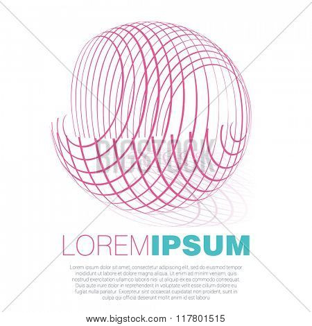 Spinning sphere. Vector template.