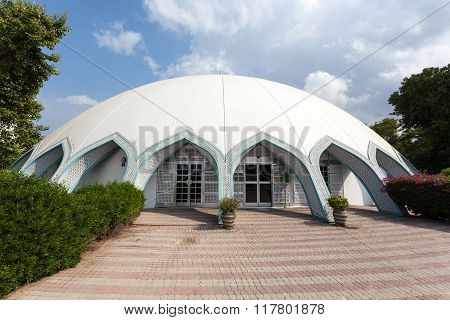MUSCAT OMAN - NOV 29: Exterior view of the childrens museum in Muscat. November 29 2015 in Muscat Sultanate of Oman Middle East